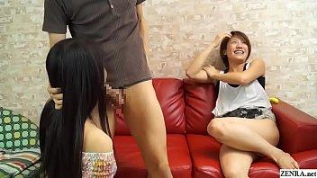 Пышногрудая китаянка в гольфах мастурбирует в кожаном кресле